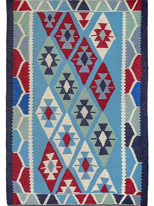 Blue Persian Kilim Rug - 147 x 103cm