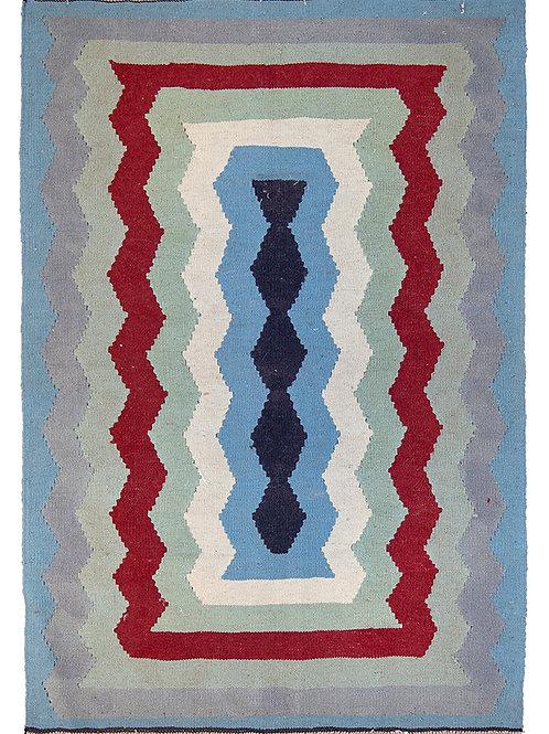 Blue Persian Kilim Rug - 143 x 99cm