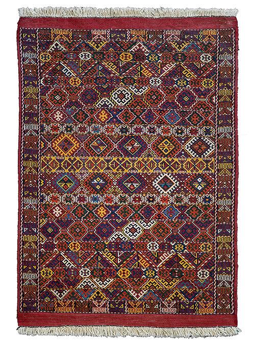 Old Kurdi Quchan Suzani Kilim - 98 x 67cm