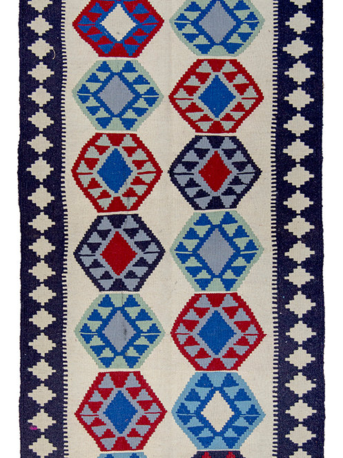 Colourful Persian Kilim Rug - 191 x 85cm