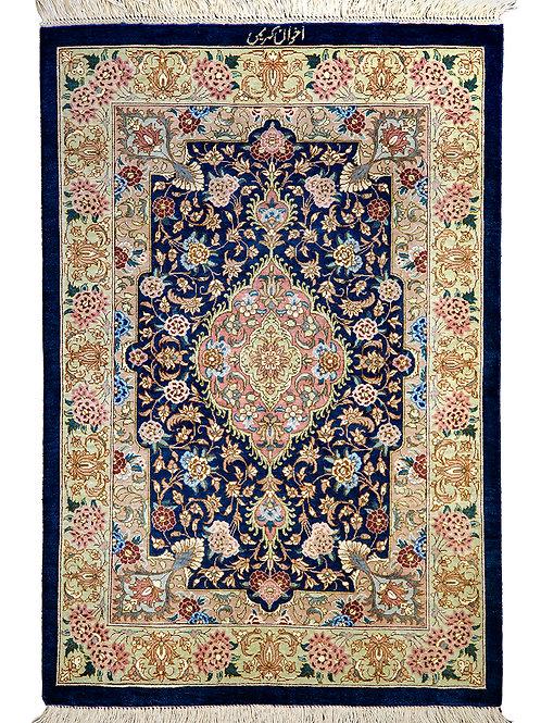 Fine Akhavan Karimi Qum Silk 90 x 60cm
