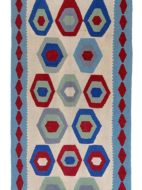 Colourful Persian Kilim Rug - 200 x 105cm