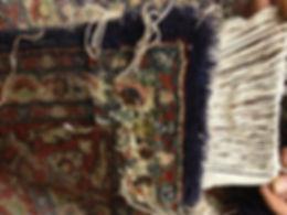 Repairing rug moth damage