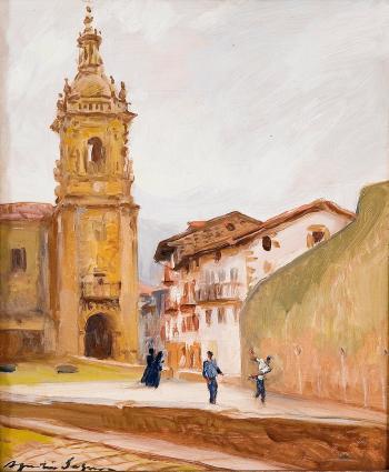 La iglesia y el frontón