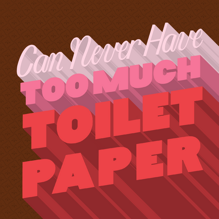 Can Never Have Too Much Toilet Paper