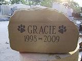 Pet Sandstone Memorial Stone