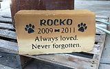 Sandstone block pet memorial