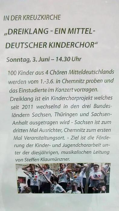 Projekt Dreiklang in Chemnitz 1.-3.6.2018