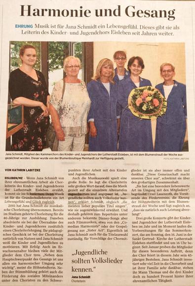 Blumenstrauß der Woche für Jana Schmidt