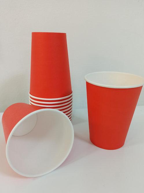 Стакан бумажный красный 350мл