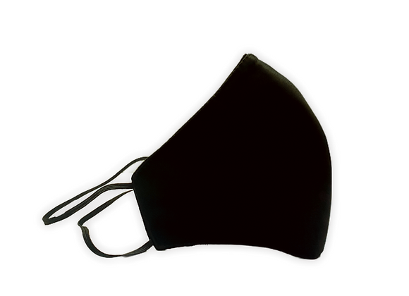 Mascarilla Negra 4 capas Full Cobertura