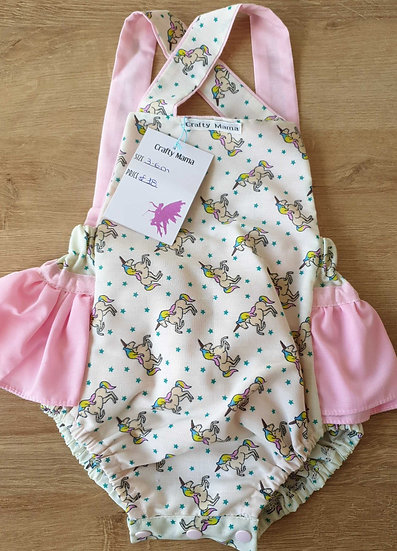 Frilly romper 3-6m