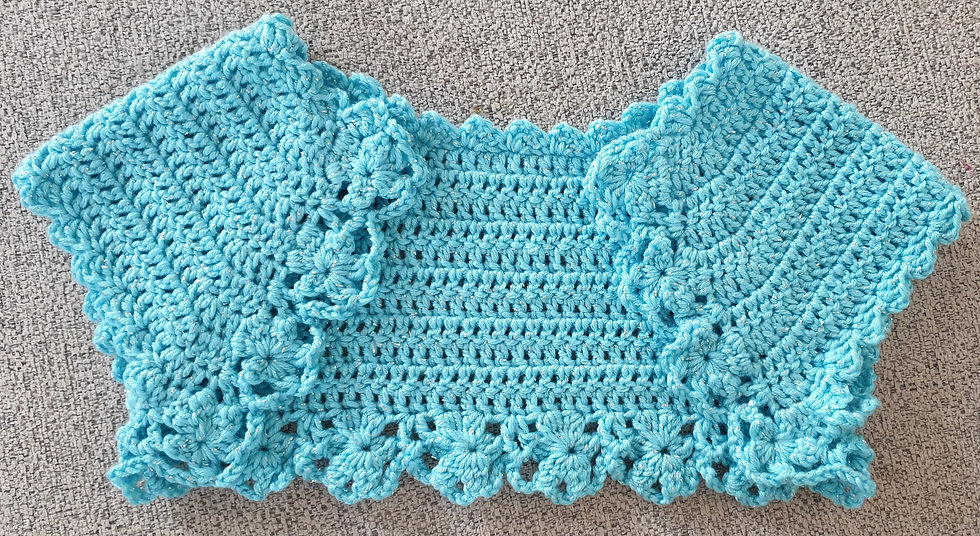 Crochet bolero size 2-4 yo