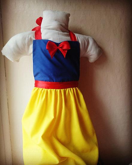 snow-white apron