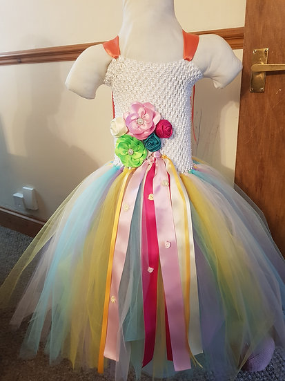 Rainbow unicorn tutu dress