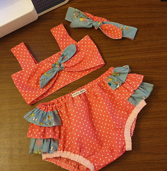 Frilly set 18-24m