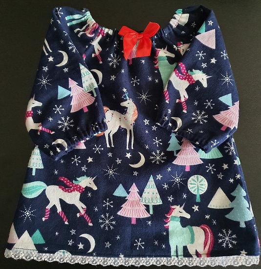 Unicorn peasant dress up to 3yo
