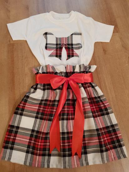 High waist skirt and matching t shirt - made to order
