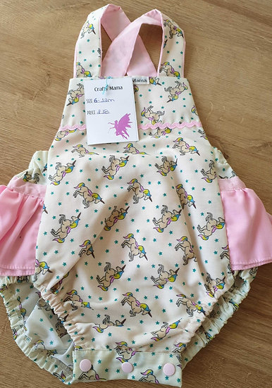 Frilly romper 6-12m