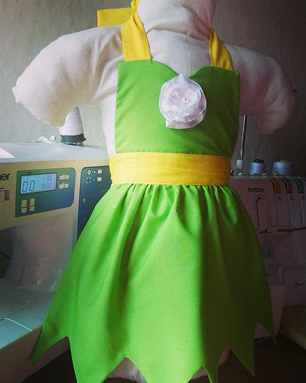 Tinkerbell dress up apron 2-3yo