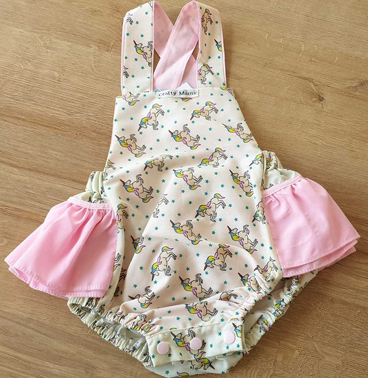 Frilly romper 0-3m