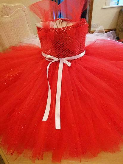 Red tulle dress 6-10yo RTP