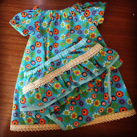 Peasant dress with nappy cover