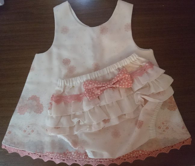 A line dress with nappy cover