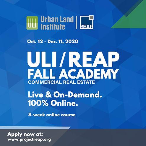 ULI_REAP Fall 2020 Academy Graphic_Squar