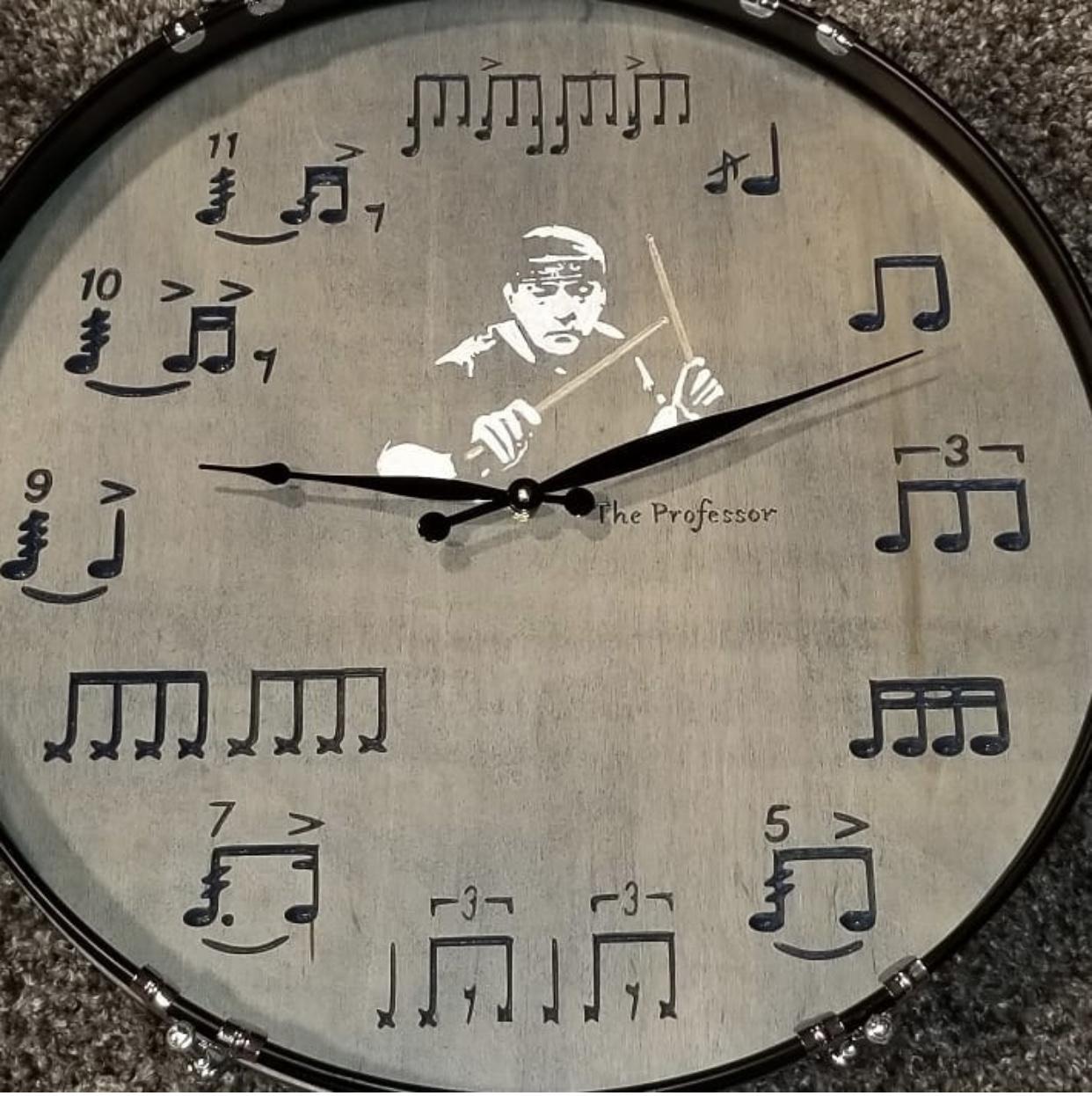 Neil Peart Bass Drum Clock