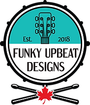 Funky Upbeat Designs Logo - Drum _ Stick
