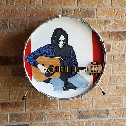 "22"" Neil Young Drum Wall Art"