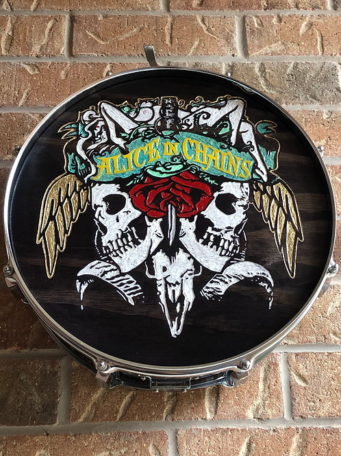 """14"""" Alice In Chains Snare Drum Wall Art"""