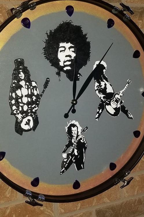 "22"" Ultimate Guitar Legends Bass Drum Clock"