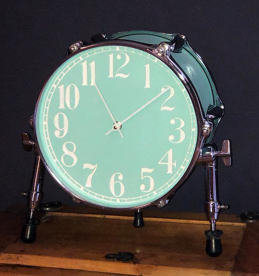 "10"" Tabletop Drum Clock Chrome Legs"