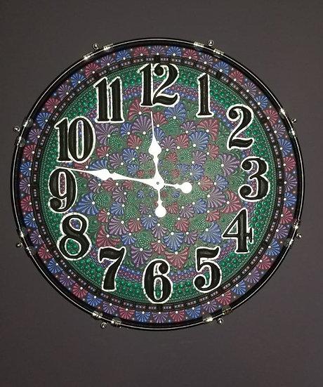 "22"" Mandala Bass Drum Clock - Alice"
