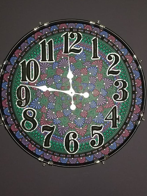 "22"" Mandala Bass Drum Clock - Alice"