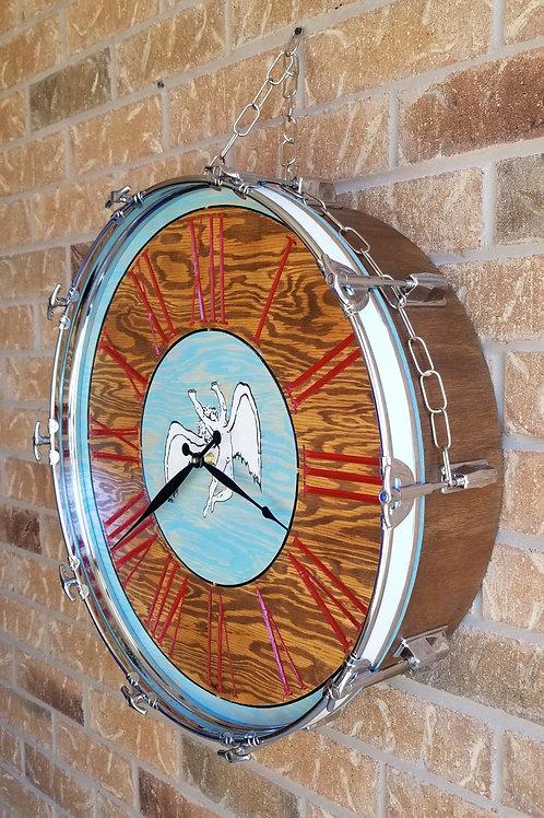 """22"""" Led Zeppelin Bass Drum Clock"""