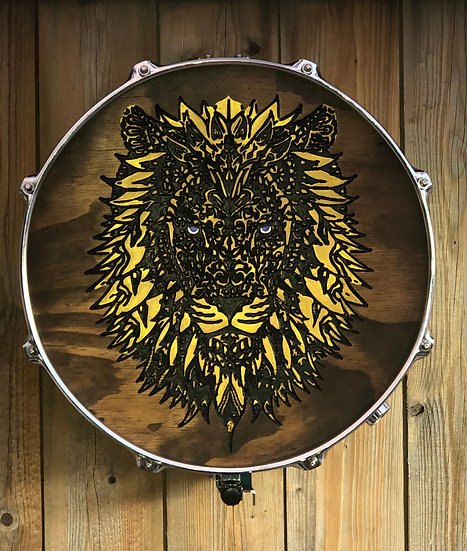 """14"""" Lion Snare Drum Wall Art"""
