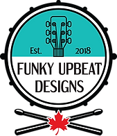 Funky Upbeat Designs Logo - Drum _ Sticks - No Tagline - Colour.png