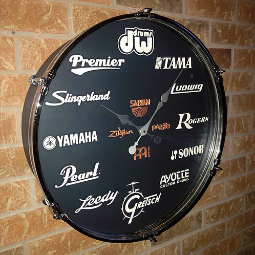 22 Inch Ultimate Drummer's Drum Clock