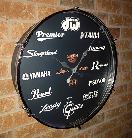 "22"" Ultimate Drummer's Drum Clock"