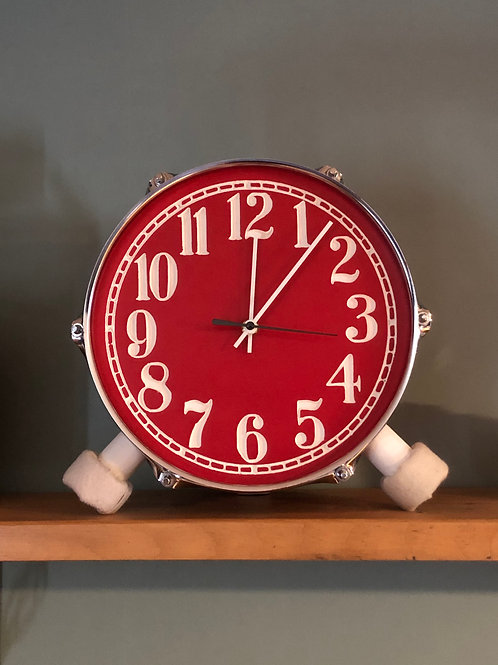 "10"" Bookshelf/ Tabletop Drum Clock"