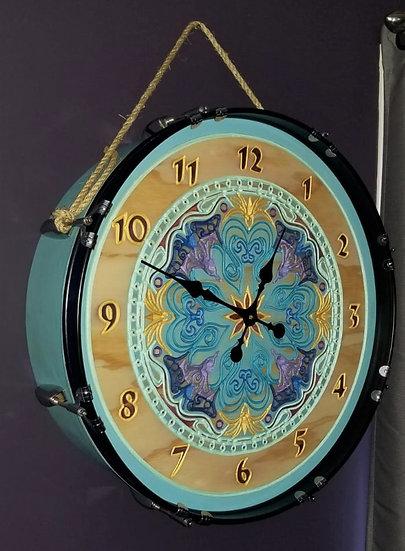 """22"""" Mandala Bass Drum Clock"""