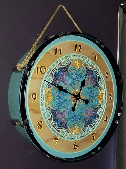 "22"" Mandala Bass Drum Clock"