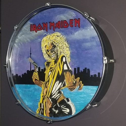 "22"" Iron Maiden Drum Wall Art"