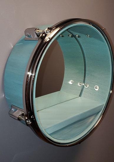 "12"" Drum Mirror Wall Shelf"