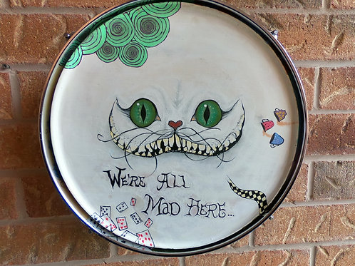 "13"" Alice In Wonderland Drum Wall Art"