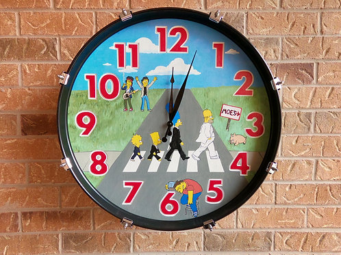 "22"" The Simpsons Bass Drum Clock"