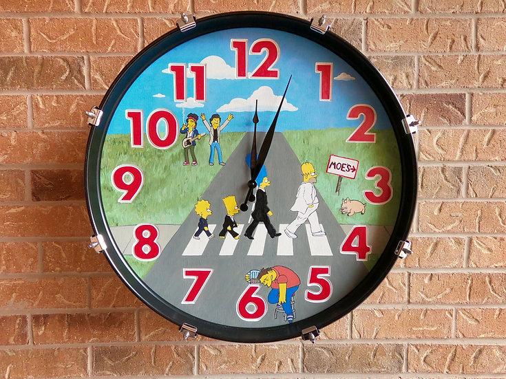 "22"" The Simpsons Bass Drum Clock"